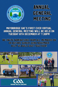 Mayobridge GAC First EVER Virtual AGM 2020!